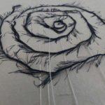 incrustation fil washi-atelier papetier-papier artistique-papier artisanal-papier Japonais-washi-papier art déco